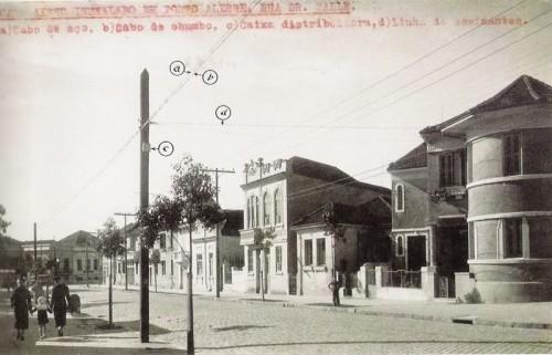 Rua Dr. Valle, no bairro Floresta, em 1930