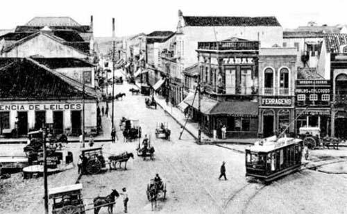 Rua Voluntários da Pátria em 1910
