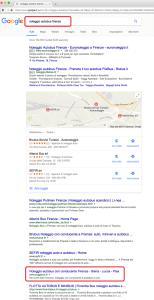 risultati serp google