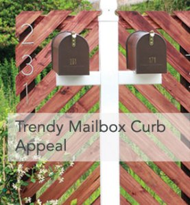 Trendy Mailbox Curb Appeal Ideas