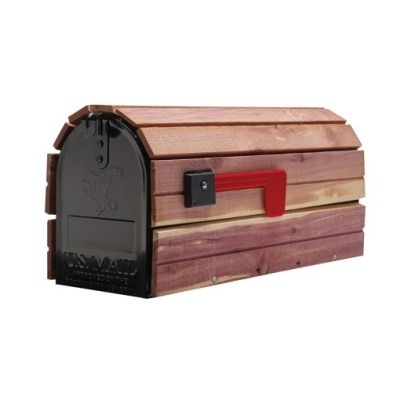 Cedar Wrap wooden mailbox