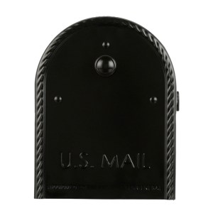 Edwards Black Mailbox Front View