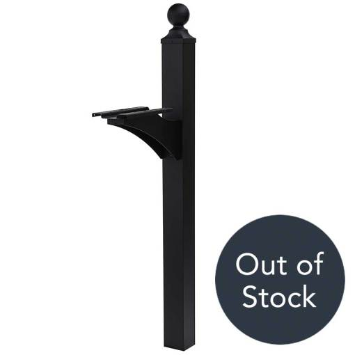 Estate Black Mailbox Post, Out of Stock