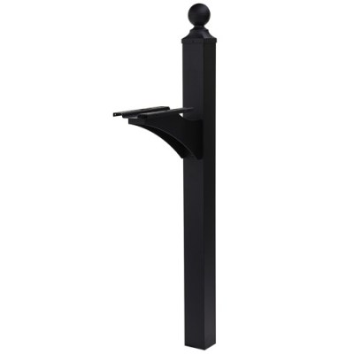 Estate Black Mailbox Post
