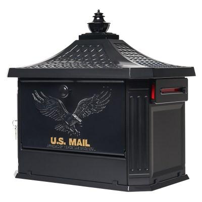 Hamilton Black Post Mount Mailbox