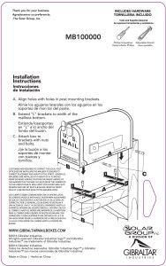MB100000 Mounting Brackets Instructions