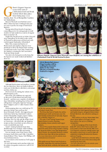 The Oxford Times features Gibson's Organic Liqueurs
