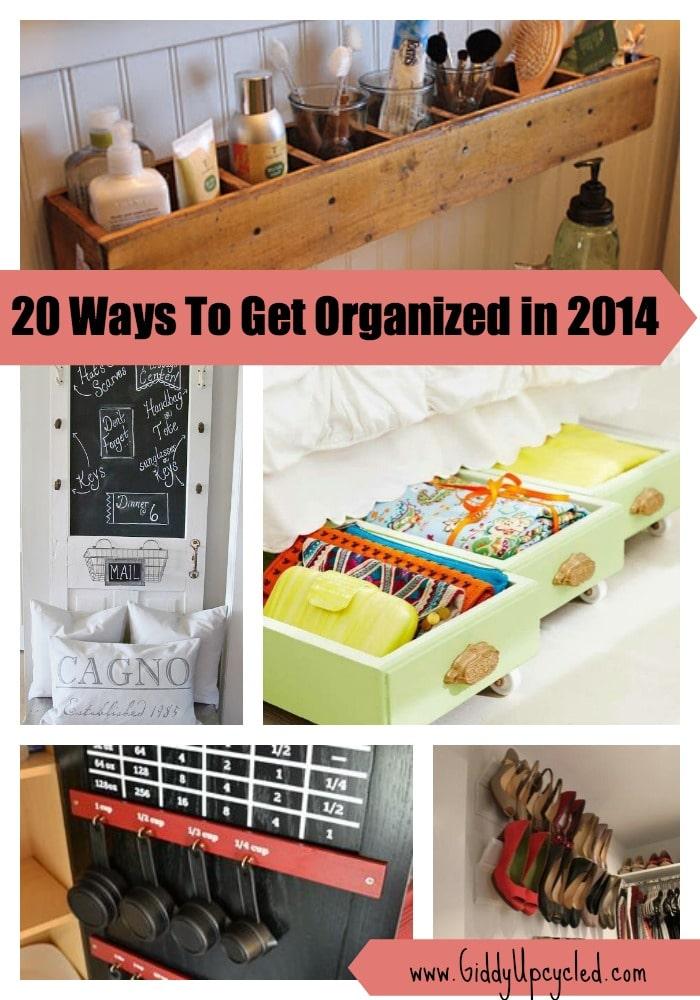 Get Organized This Year 20 Genius Upcycled Storage Ideas