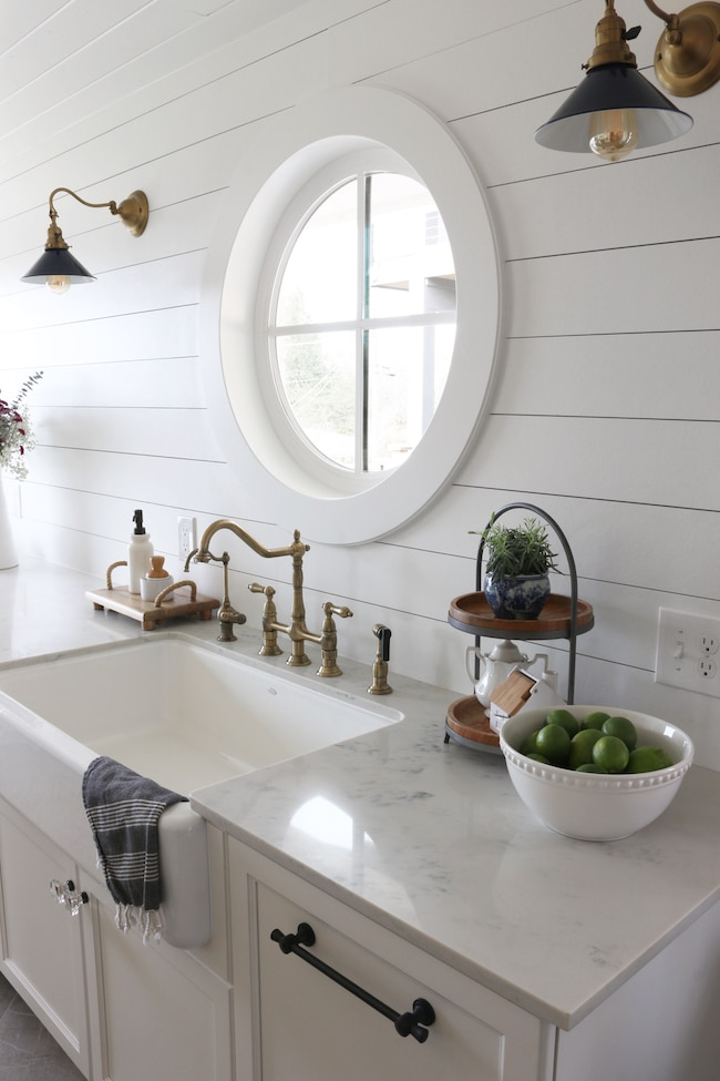 Shiplap Kitchen Planked Walls Behind Sink Amp Stove Giddy