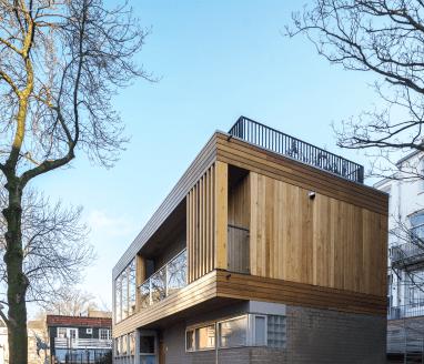 Nieuwe verdieping met dakterras Amsterdam-Zuid - Verhoging bestaand vrijstaand woonhuis - Gietermans & Van Dijk architecten - Serena Silooy Photography