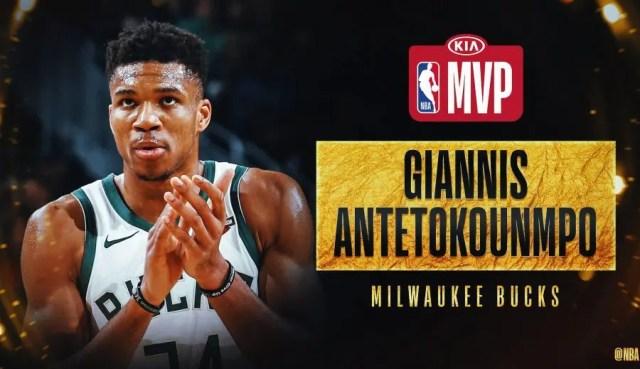 Giannis Antetokounmpo, ganador del MVP de la NBA 2019/20