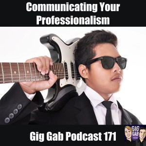 Guitarist in a suit. Communicating Your Professionalism
