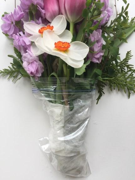 keeping a bouquet moist