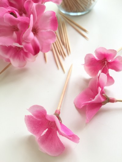 flower cake picks