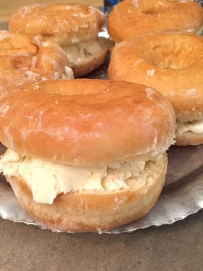 doughnut ice cream sandwich