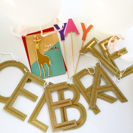 party banner /cake topper