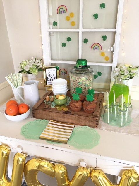 St, Paddy's table