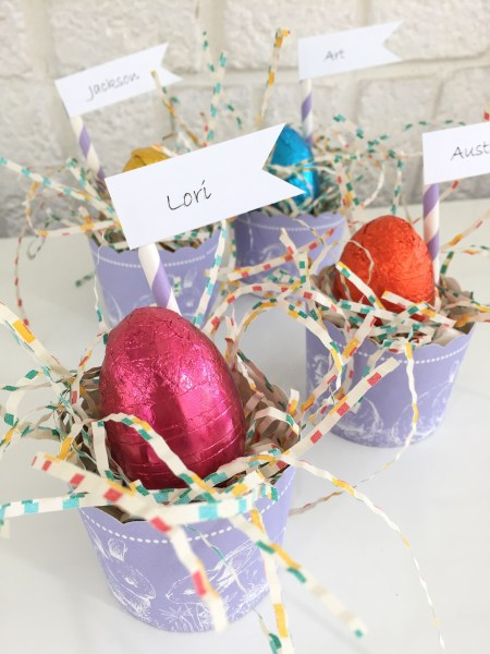 treat cup place cards