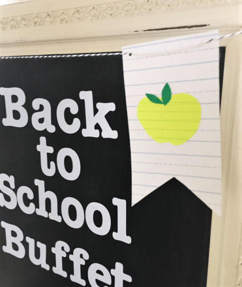 DIY back to school banner