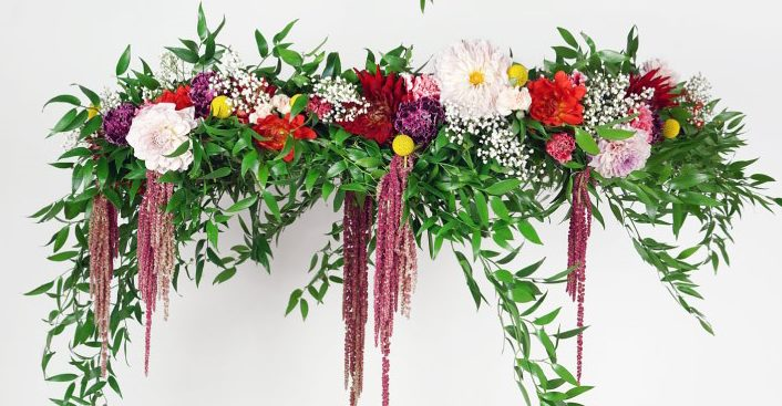 How To Create A Flower Chandelier