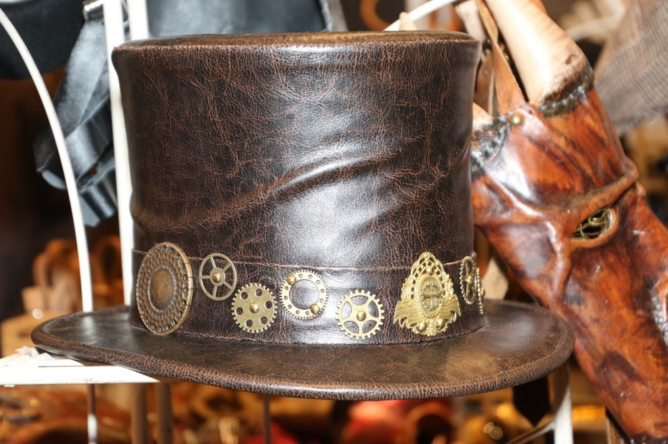 steampunk, hat, topper