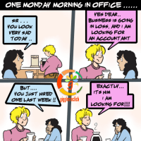 one Monday morning at office