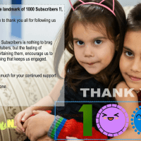 Hurray we have reached the landmark of 1000 Subscribers !!,