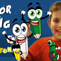 Arian presenting various color song with cute animated pencils | COLOR COUNT FUN