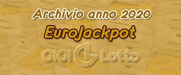 Archivio Eurojackpot 2020