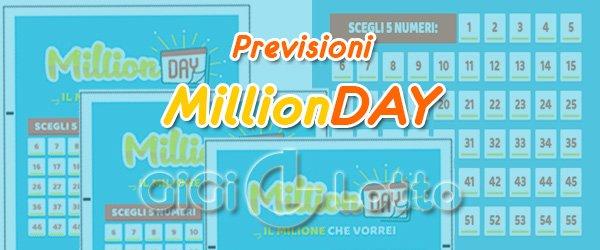 Previsioni MillionDay del 21-08-2020