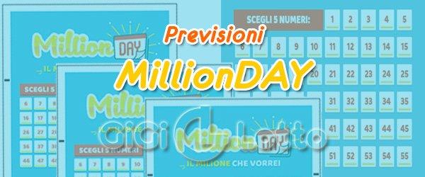 Previsioni MillionDay del 28 09 2020