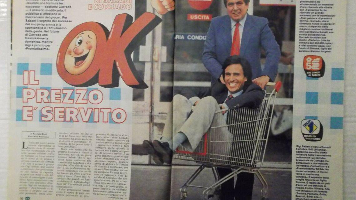 CLIPPING – 1984 – Corrado e Gigi Sabani: Ok il Prezzo è Servito