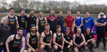 Gig Rowers do the Boat Race