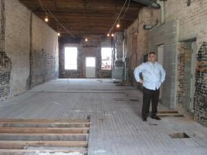 Mark Steiner in the gutted first floor