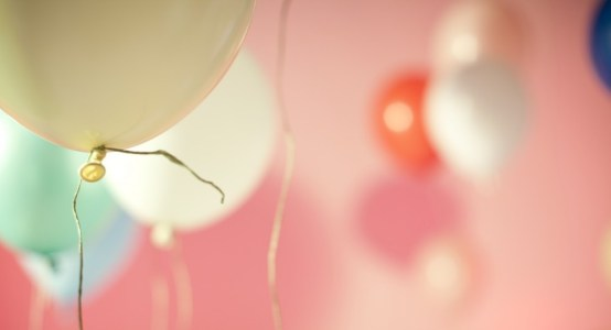 Image of balloons at a party.