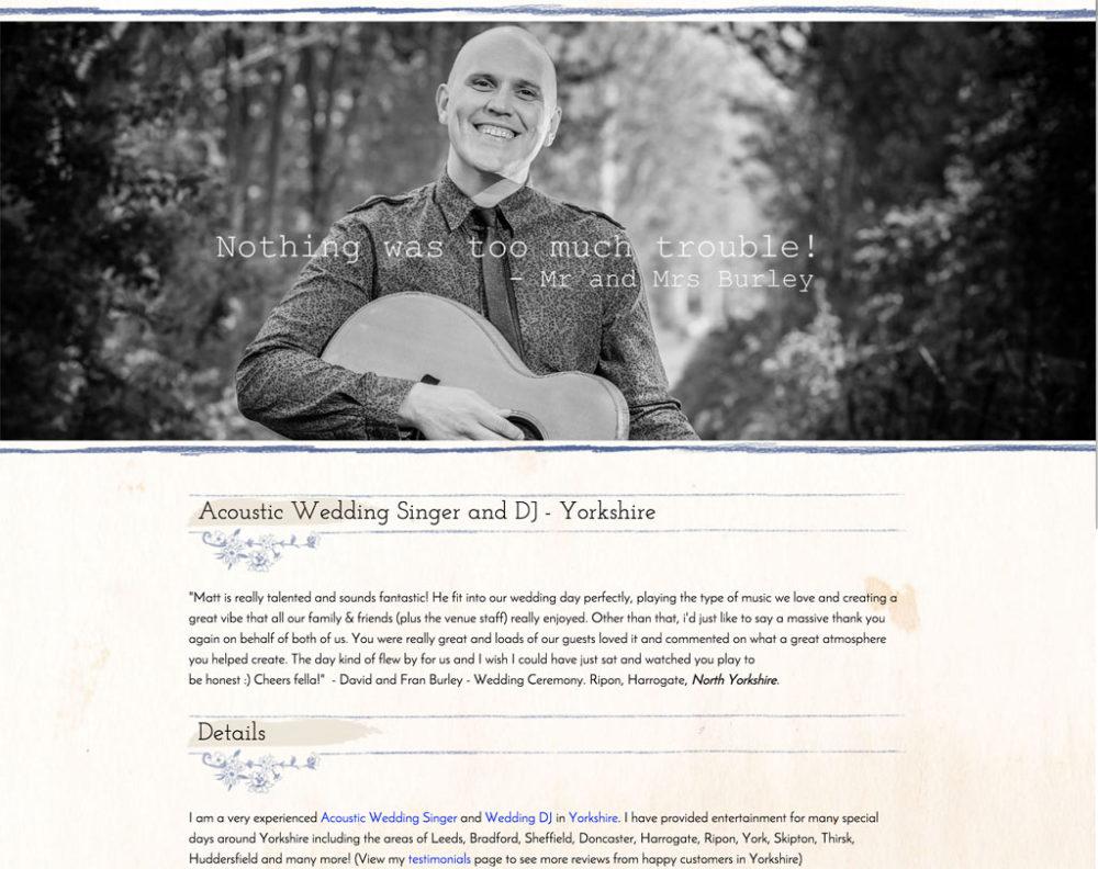 wedding dj website templates