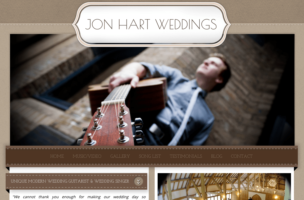 Jon Hart Weddings Homepage