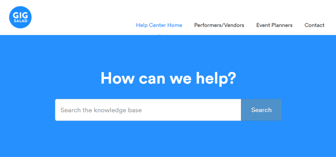Use the GigSalad Help Center to find answers