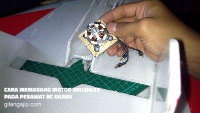 Cara Memasang Motor Brushless Pada Pesawat RC Gabus