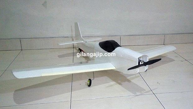 Pesawat RC Gabus Mustang