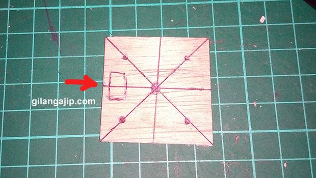 membuat lubang esc dari motor brushless