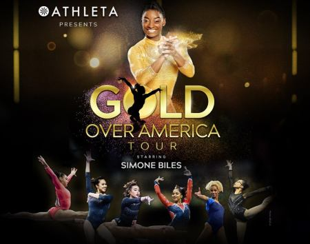 Simone Biles to Perform in 35 Cities Across U.S. for Athleta Presents Gold Over America Tour
