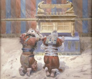 Tissot_Moses_and_Joshua_in_the_Tabernacle