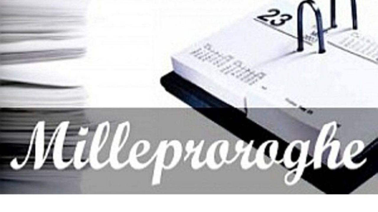 Risultato immagini per MILLEPROROGHE