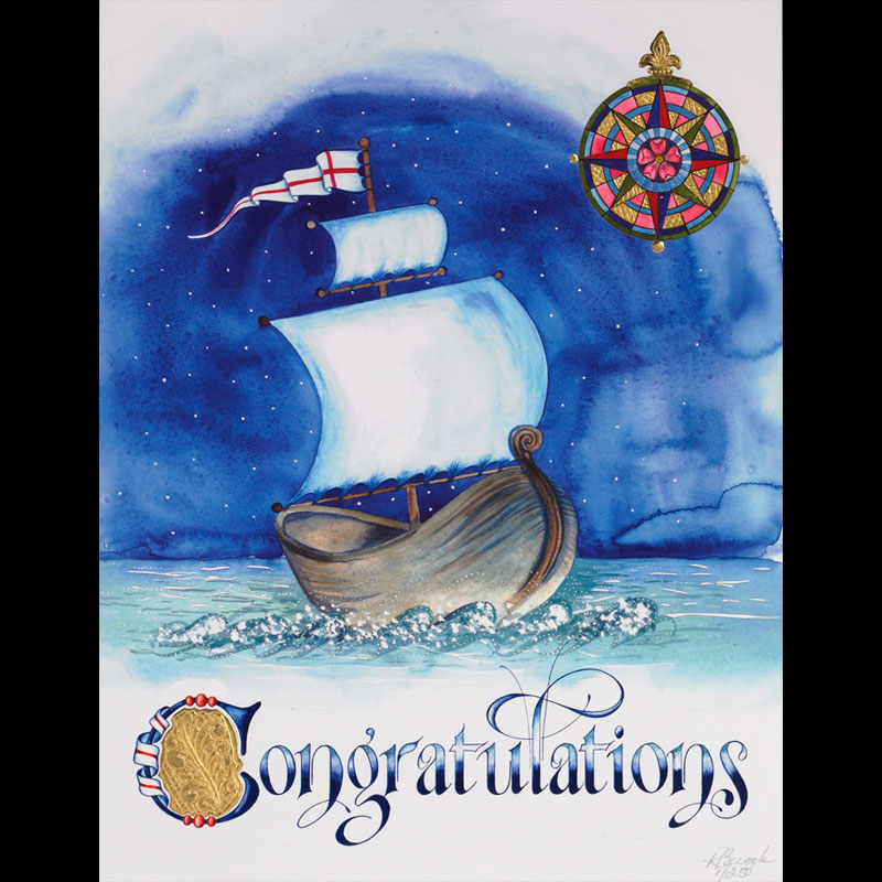 Congratulations With Viking Ship