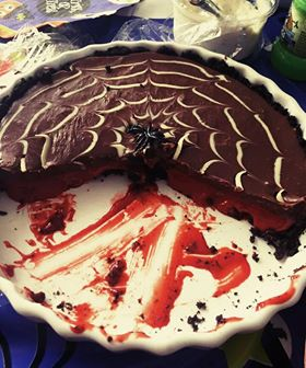 Katie Halloween No Bake Bloody Chocolate Tart-1