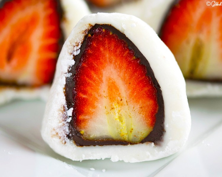 Chocolate Strawberry Mochi Gilded Gingerbread