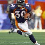 Terrell Davis, pictured during Super Bowl XXXII.