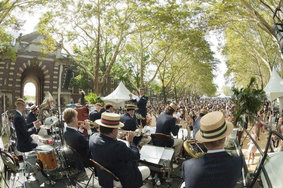 Music from Michael Arenella and his Dreamland Orchestra at the Jazz Lawn Party on Governors Island in New York City (Photo: Lev Radin)