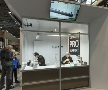 The Sony display at thePhotoPlus International Conference/Expo Reels in NYC (Photo: Lev Radin)
